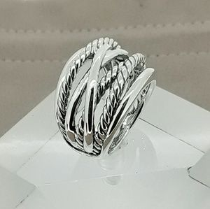 David Yurman Crossover Wide Ring size 9.75
